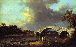1754 in art - Canaletto – Old Walton Bridge