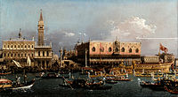 Canaletto (Giovanni Antonio Canal) - The Bucintoro at the Molo on Ascension Day - Google Art Project ( AGPvVoUXqRRYw).jpg