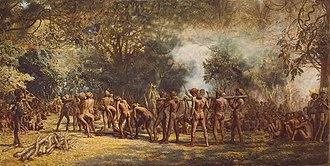 Tanna (island) - Cannibal Feast on Tanna by Charles E. Gordon Frazer c. 1885-9