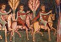 Cappella di san silvestro, affreschi del 1246, storie di costantino 03 invio dei messi a papa silvestro sul soratte 3.jpg