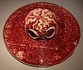 Cappello da cardinale da parata, 1450-1500 ca., in velluto, ricamato in seta, cordonetto d'oro, oro filato, lino e paglia (fi, musei civici, depositi) 02.jpg