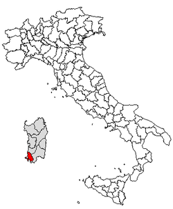 Location of Province of Carbonia-Iglesias