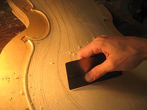 Card scraper - Leveling cello arching with card scraper