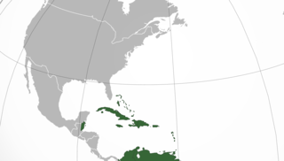 Caribbean Region in eastern Central America composed of coasts and islands in the Caribbean Sea