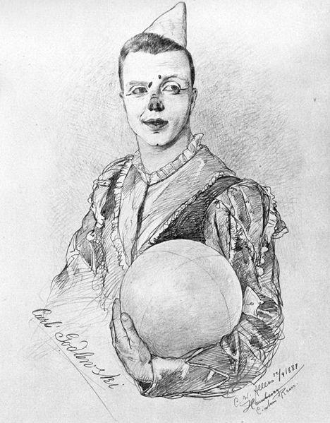 File:Carl Godlewski als Clown, 1887 (von C.W.Allers).jpg