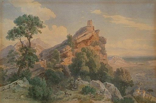 Carl Hummel Turm des Seneca auf Korsika