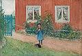 Carl Larsson - Brita, en katt och en smörgås 1898.jpg