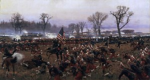 Charles H. T. Collis - Colonel Collis leading his Regiment during the Battle of Fredericksburg, December 13th 1862