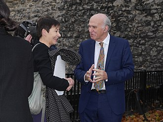 Caroline Lucas - Lucas with Vince Cable, in 2017