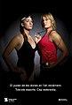 Cartell de la campanya, protagonitzat per Andrea Fuentes i Berta Castells, esportistes delit de natació sincronitzada i llançament de martell, respectivament.jpg