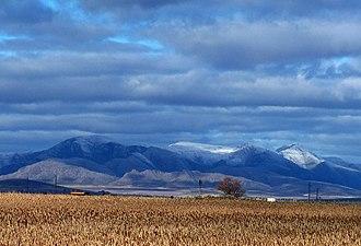 Sierra de la Ventana (mountains) - Image: Casa y montaña