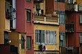 Cases de l'Onyar, façana del riu del tram de la Rambla Detall de les façanes 3.jpg