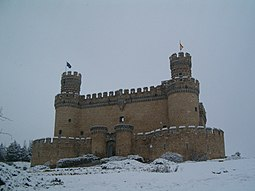 El castillo, nevado.