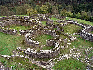 Castros (Spain) - Ruins of the houses of the Castro of Coaña, next to Coaña (Asturias).