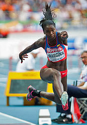Caterine Ibargüen (COL) won the women's triple jump