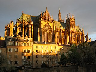 Metz Cathedral cathedral located in Moselle, in France
