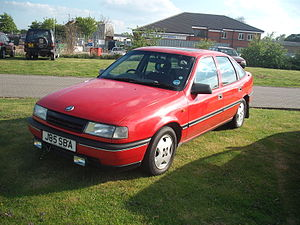 Coagh ambush - A red Vauxhall Cavalier like that driven by the IRA men at the time of the ambush