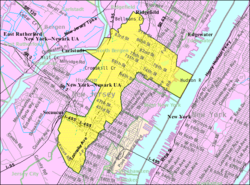 Census Bureau map of North Bergen, New Jersey