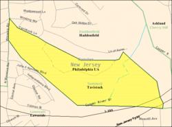 Censoburoo-mapo de Tavistock, Nov-Ĵerzejo