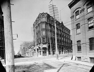 Central Chambers (Ottawa) - Image: Central Chambers Buildings May 1893