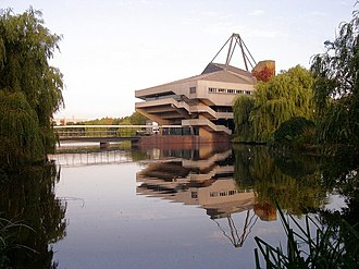 University of York - Central Hall and the lake