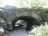 Boulder bridge in the North Woods of Central Park