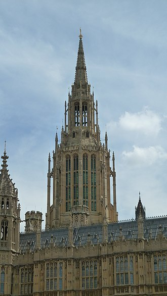 Ventilation (architecture) - The Central Tower of the Palace of Westminster. This octagonal spire was for ventilation purposes, in the more complex system imposed by Reid on Barry, in which it was to draw air out of the Palace. The design was for aesthetic disguise of its function.