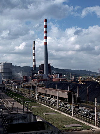 Carrió (Carreño) - Thermal power station in the village of Aboño