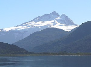 Tronador - View of Tronador mountain from Mascardi Lake, Argentina