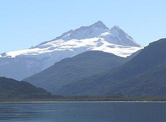 Tronador - View of Tronador mountain from Mascardi Lake, Argentina