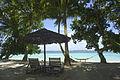 Chairs on shady beach, Andaman Sea Islands, India 2009.jpg