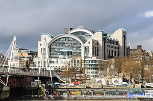 Farrells - Embankment Place, the air-rights development over Charing Cross railway station (1990)