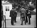 Charles G. Dawes and group at White House gate. Washington, D.C LCCN2016891713.jpg