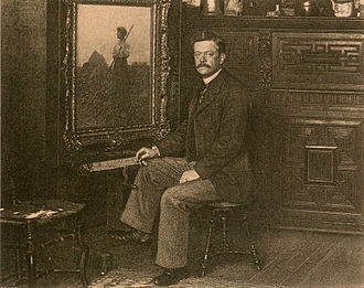 Charles Sprague Pearce - Charles Sprague Pearce in his studio in Auvers-sur-Oise, (circa 1895)