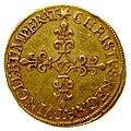 Charles X ligue piéfort écu au soleil 1595 revers.jpg