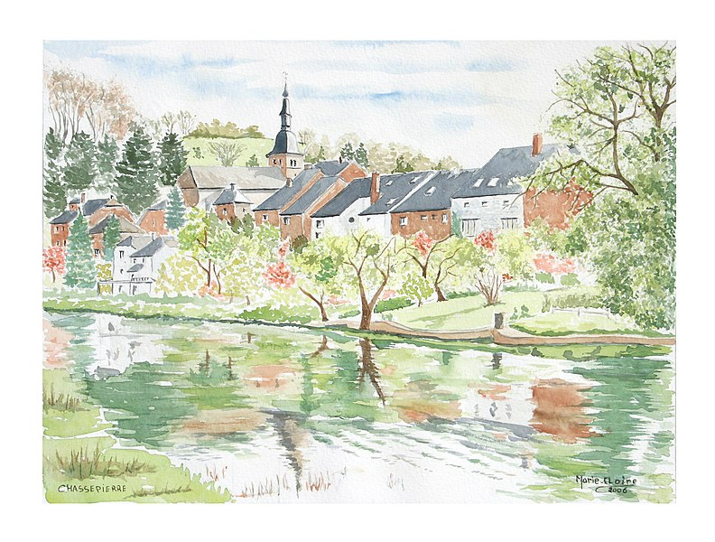 Chassepierre (Belgique), le village au bord de la Semois.