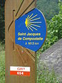 Chemin de St.Jacques, borne à Crozant (Creuse, Fr).JPG