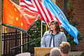 Cherokee Nation Vice President of Government Relations Kimberly Teehee, commenting on her nomination as a delegate to the U.S. Congress, Tahlequah, Oklahoma, Aug. 22, 2019.jpg