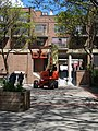 Cherry picker in pedestian courtyard SW of Sherbourne and Front, 2015 05 22 (3) (17392121423).jpg