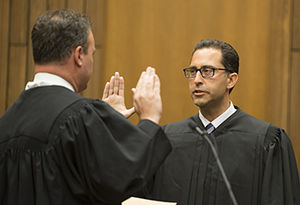 Vince Chhabria - District Judge Vince Chhabria receives the oath of office from Circuit Judge Gregg Costa of the United States Court of Appeals for the Fifth Circuit (June 26, 2014)