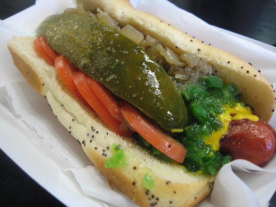 Chicago-style hot dog 2