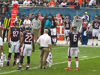 2012 Chicago Bears season - The Bears offense during a TV timeout