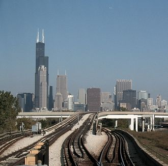 Climate of Chicago - Chicago from Cermak-Chinatown station