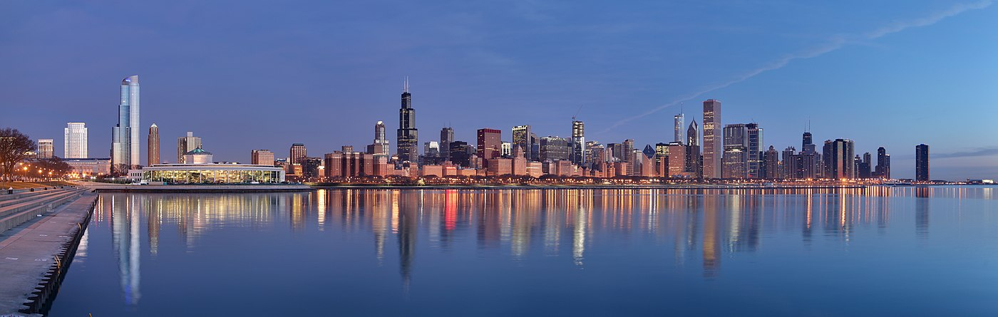 Chicago skyline on April 18 2009 from