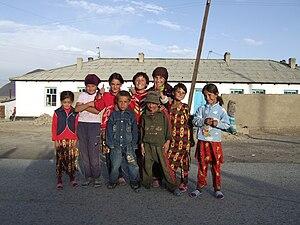 Murghab, Tajikistan - Image: Children group, Murghab, Tajikistan
