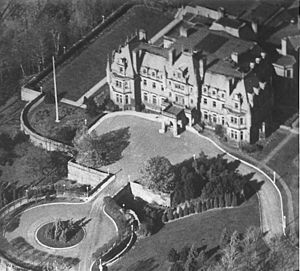 Government House (Ontario) - Ontario's fourth Government House, Chorley Park, as seen from the air circa 1930