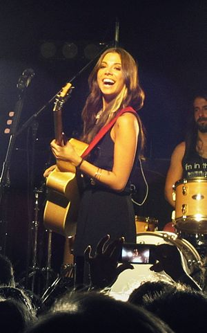 Christina Perri - Image: Christina Perri concert in 2012 (cropped)