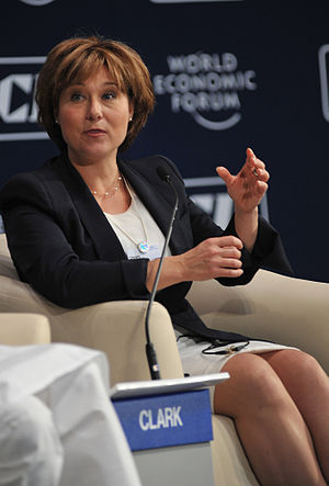 Christy Clark - Premier Christy Clark at a 2011 World Economic Forum meeting in India