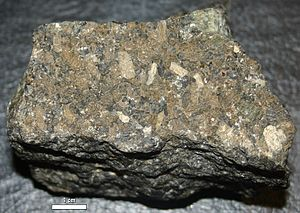 Stillwater igneous complex - Chromitite with bronzite phenocrysts from Stillwater Igneous Complex