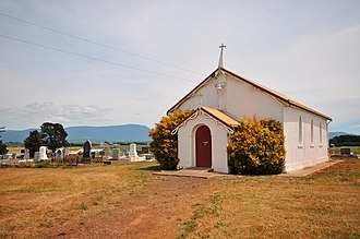 Bishopsbourne, Tasmania - The Anglican Church of the Holy Nativity, built in 1844 and opened 25 April 1845